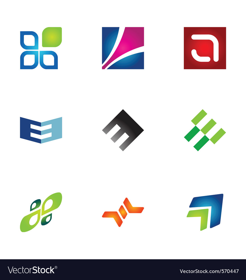 Logo design elements set 78