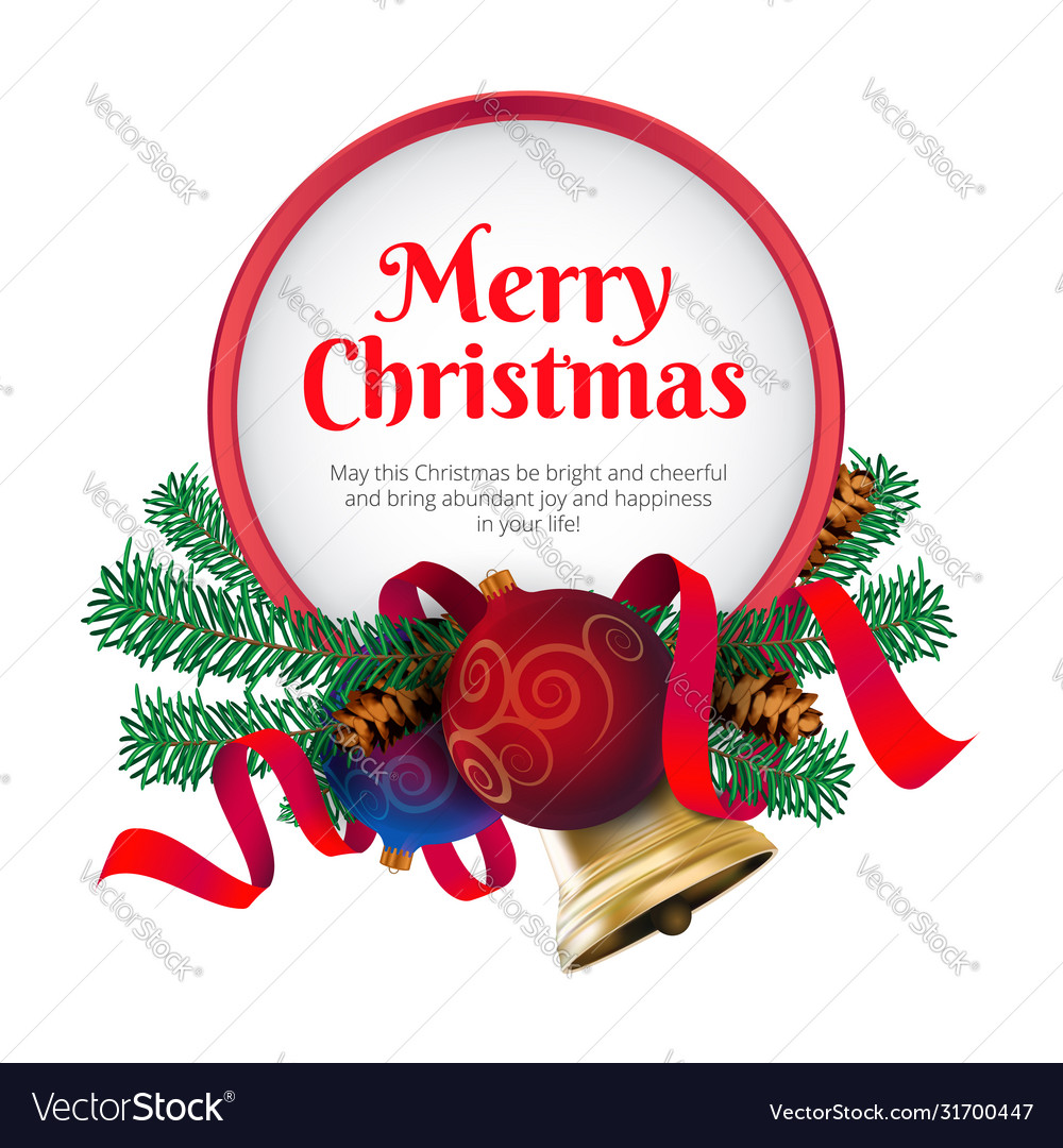 Merry christmas greeting card or banner