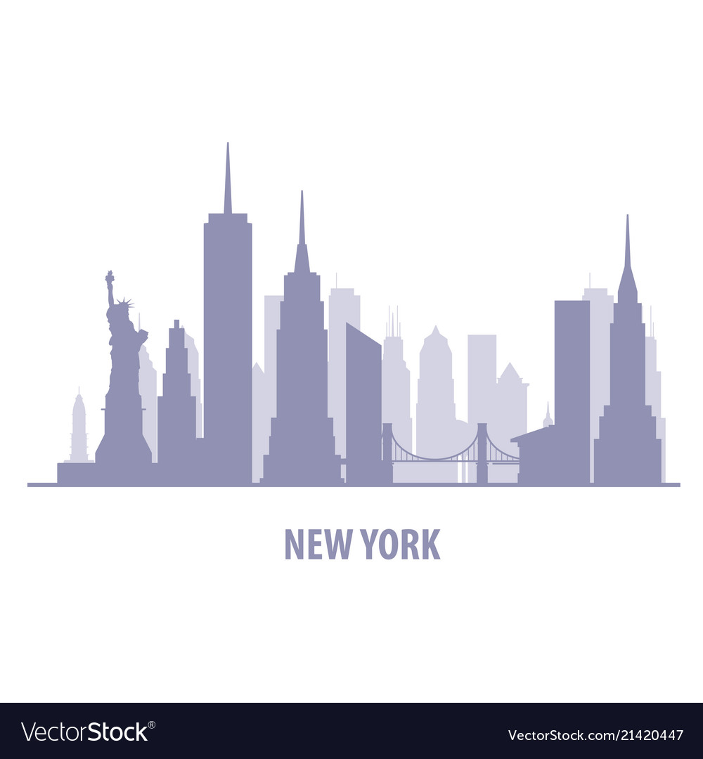 New york cityscape - manhatten skyline silhouette