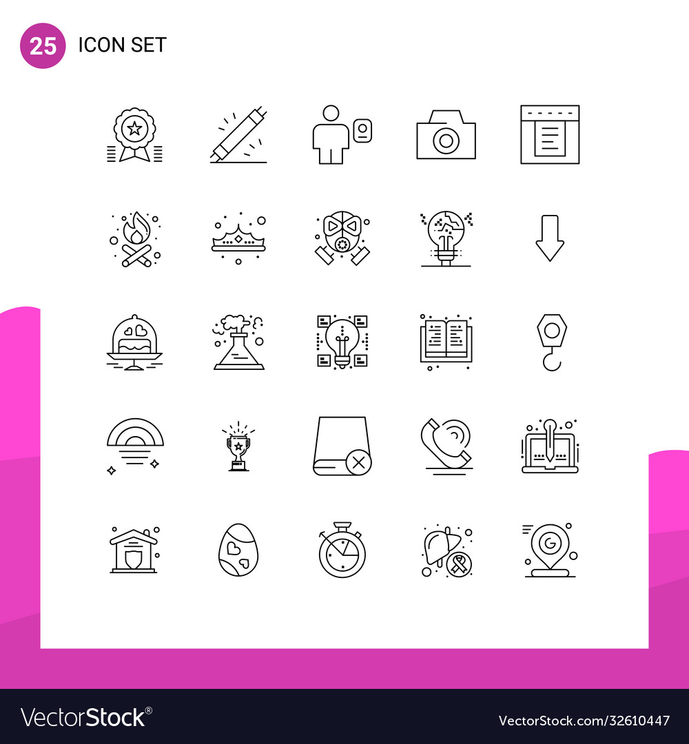 Pack 25 creative lines dropdown photo