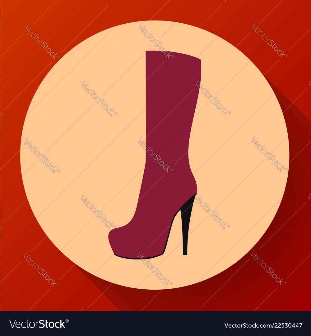 Womens fashion shoes boots icon female winter