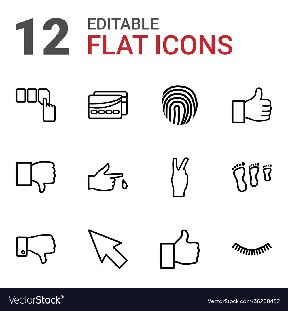 12 finger icons