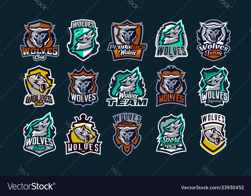 A large colorful collection of emblems logos