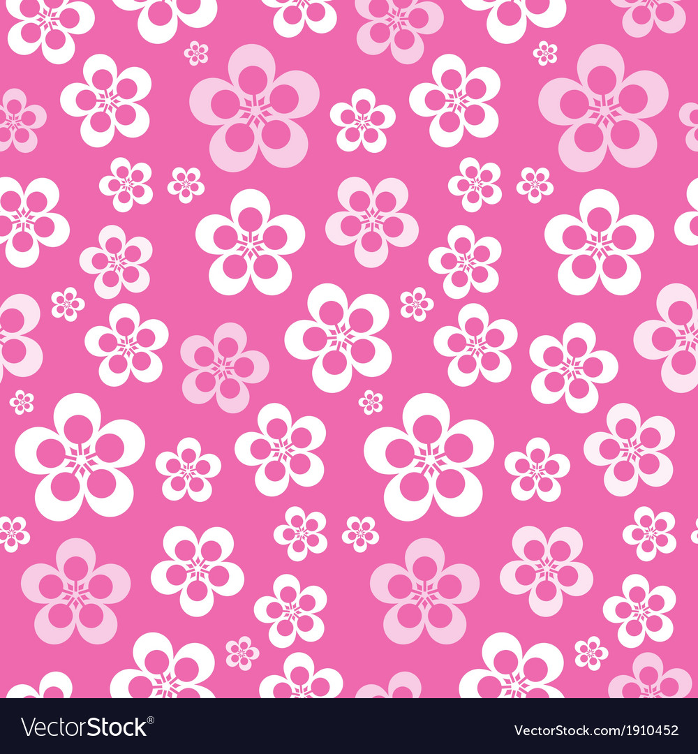 Abstract Retro Seamless Pink Flower Pattern