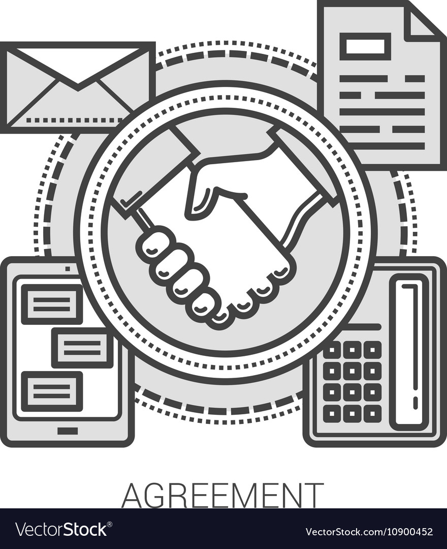Agreement line icons