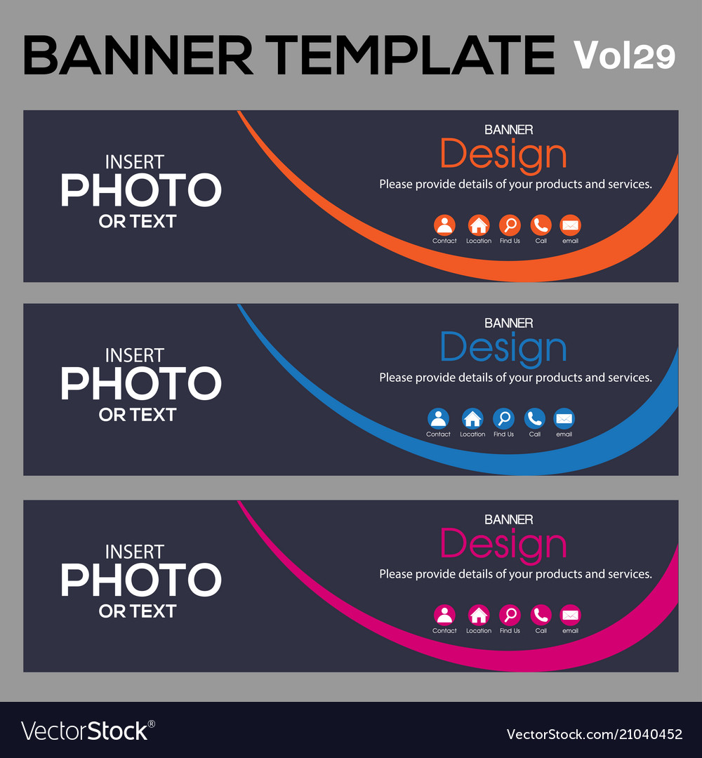Bannertemplate for business webdesign