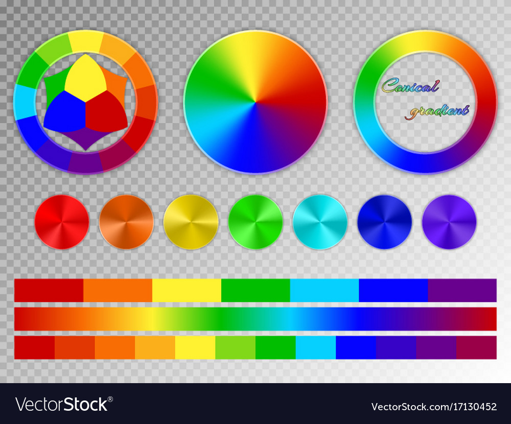 Color Wheel On A Transparent Background Royalty Free Vector
