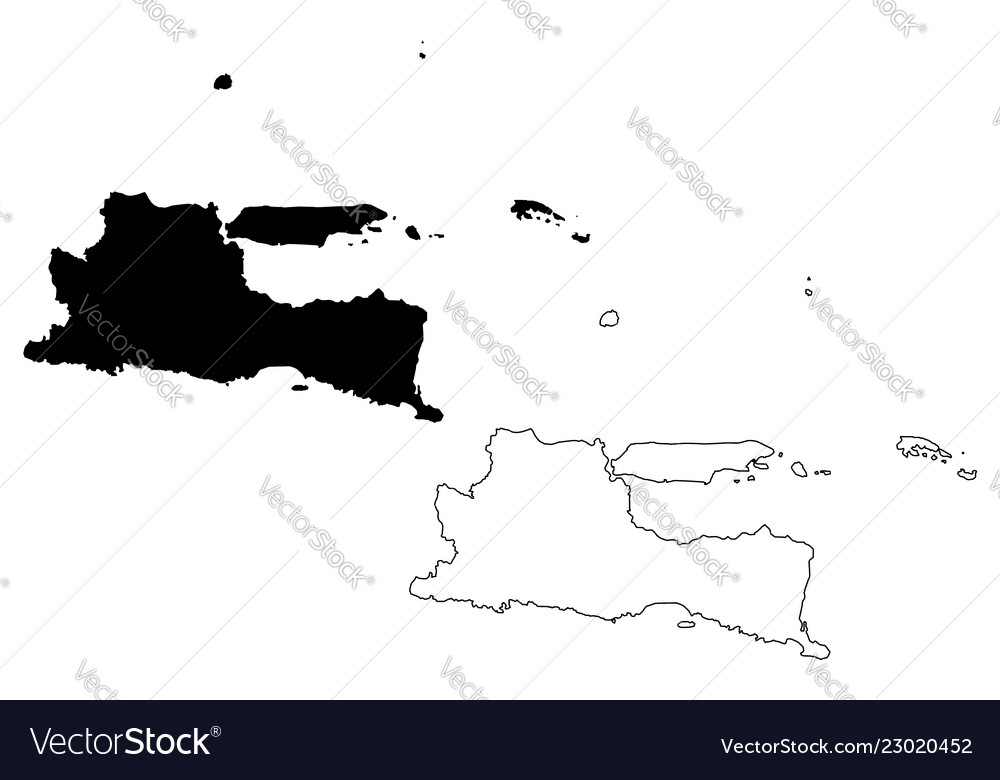East java map vector image