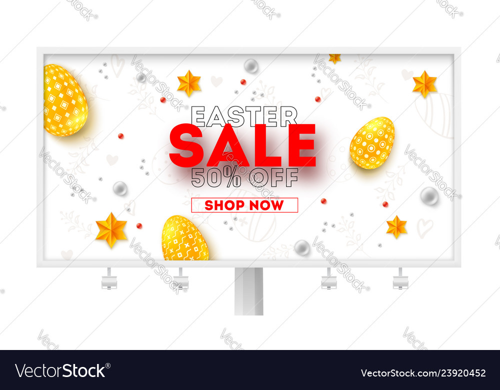 Easter sale ad billboard with special holiday