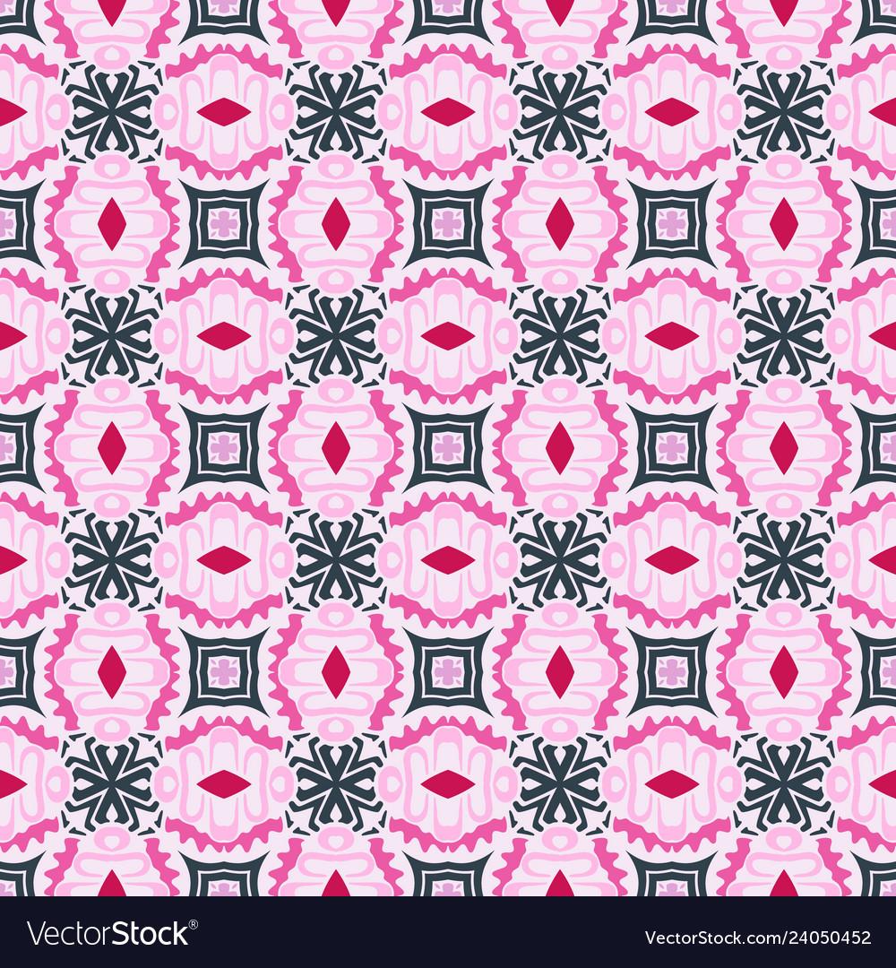 Geometric seamless vintage ornamental pattern
