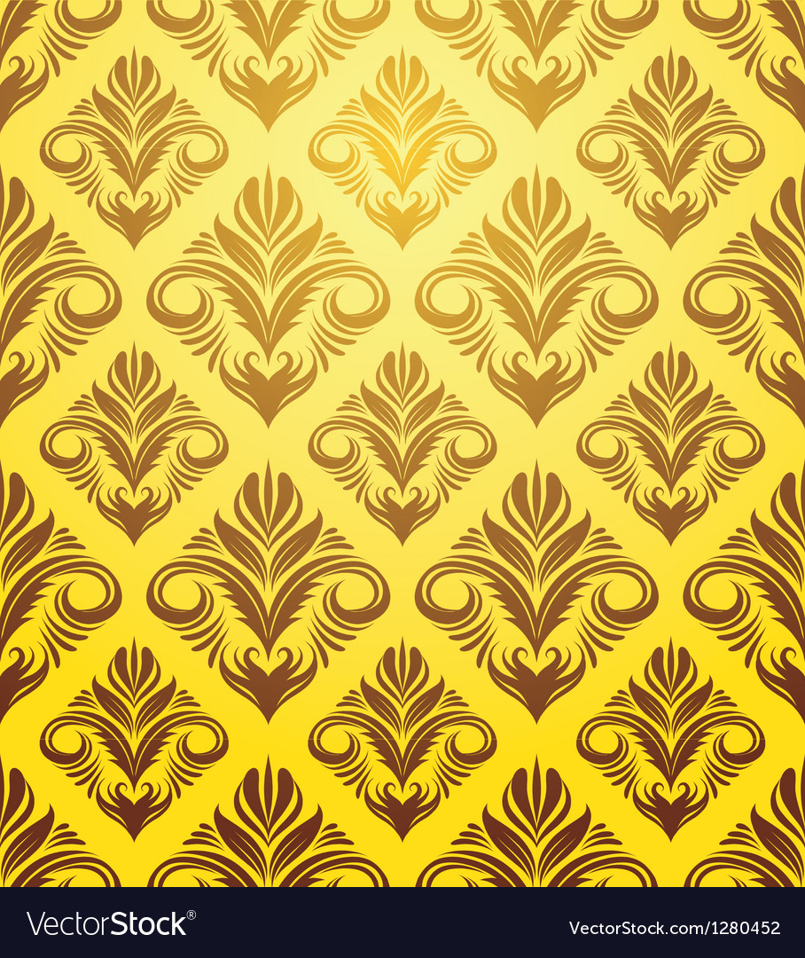Gold Yellow Pattern vector image