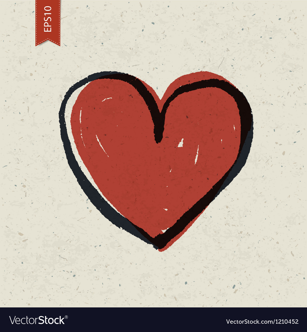 Heart Symbol On Paper Royalty Free Vector Image