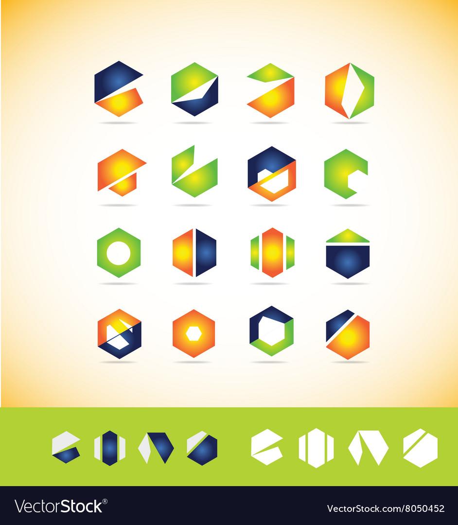 Logo icon set elements