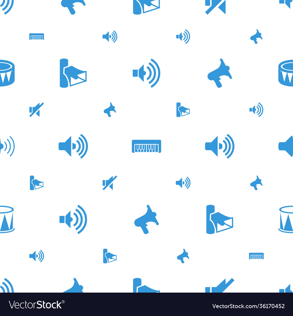 Noise icons pattern seamless white background