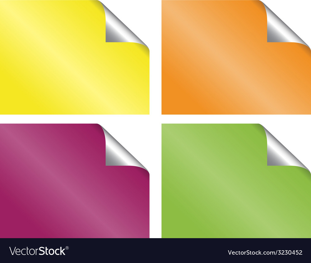Set of blank stickers