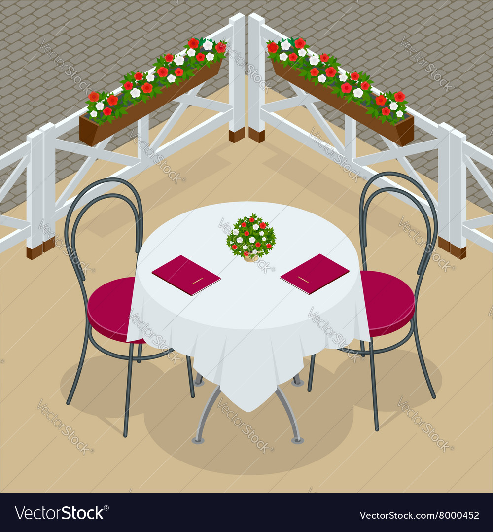 Table with chairs for cafes Modern table and
