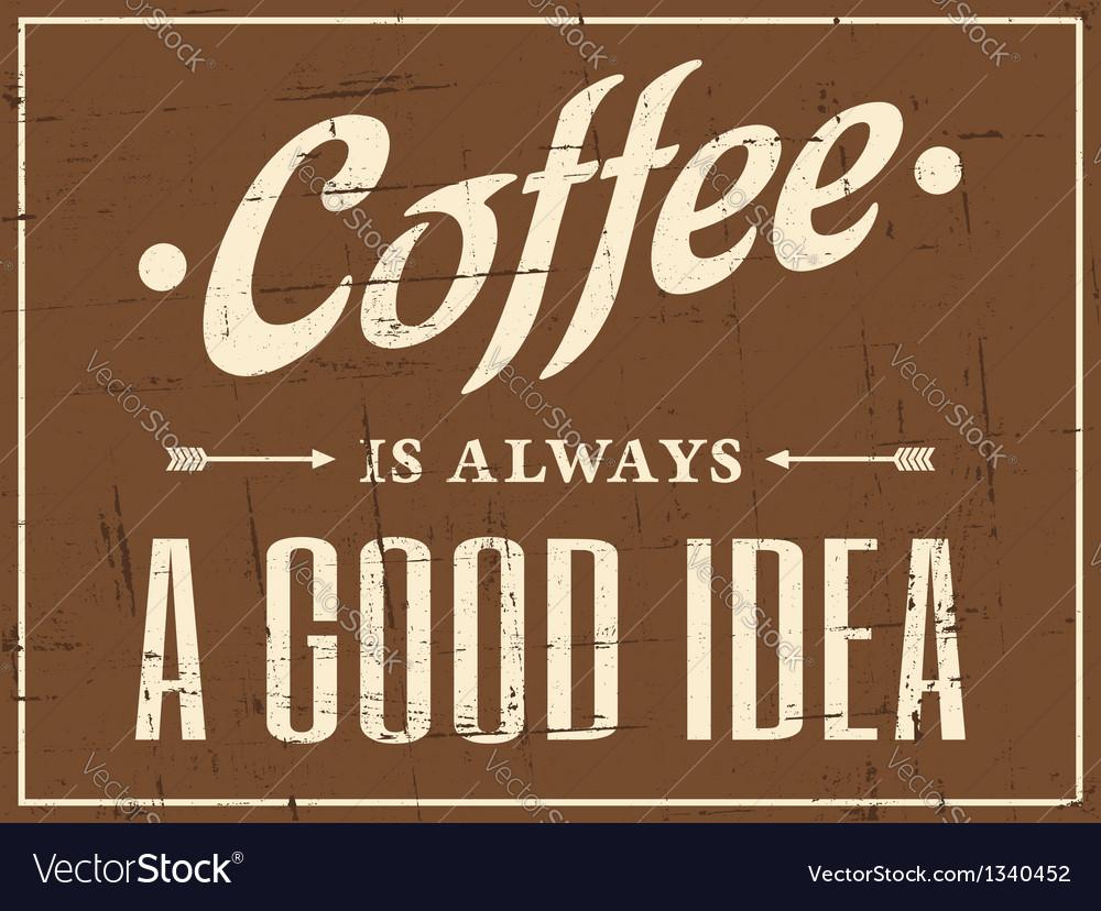 Vintage Coffee Design vector image