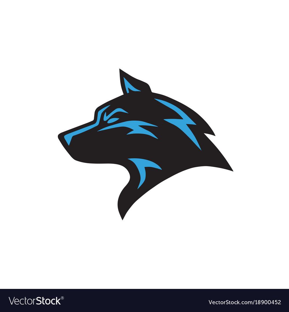 wolf logo template royalty free vector image vectorstock