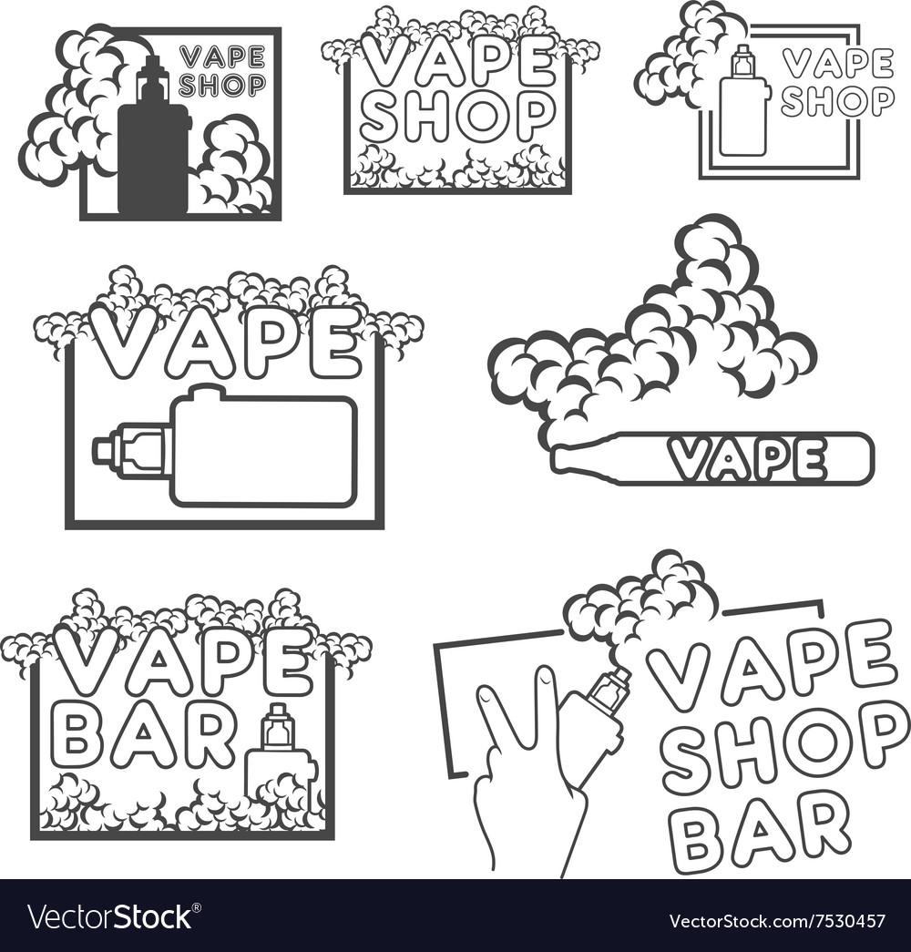 A set of electronic cigarette logos