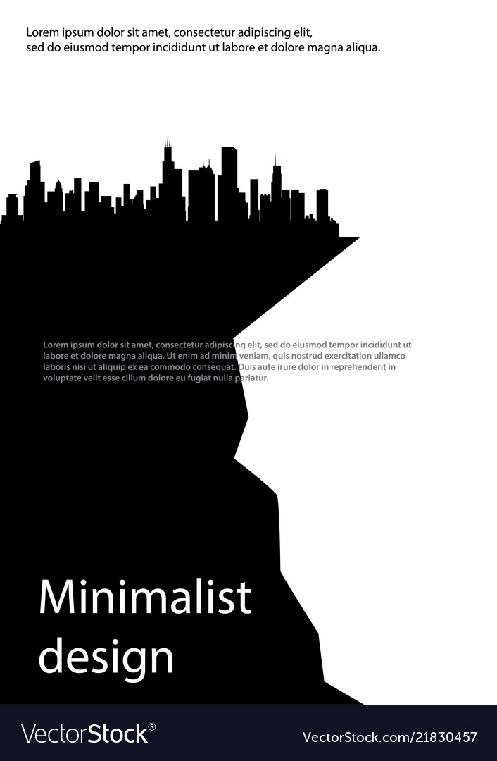 A4 minimal black and white design postcard flyer