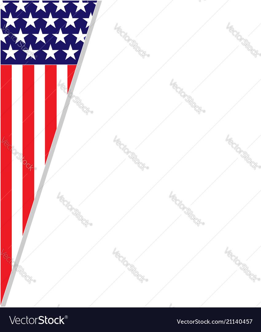 Abstract american flag frame corner