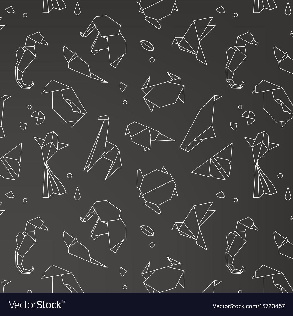 Animals origami pattern
