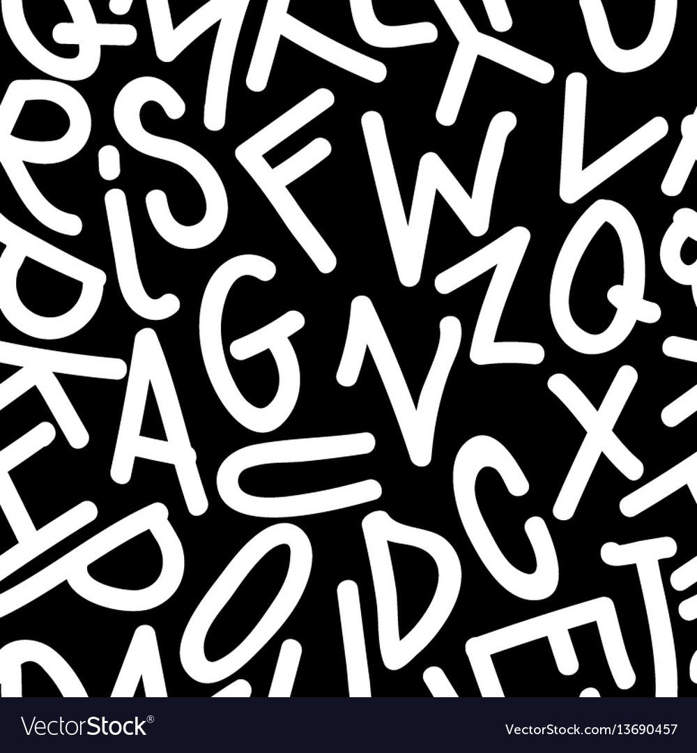 Art seamless pattern font
