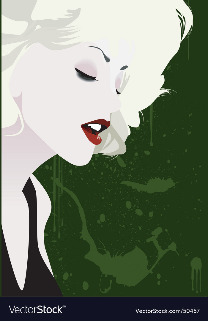 Blond girl vector image
