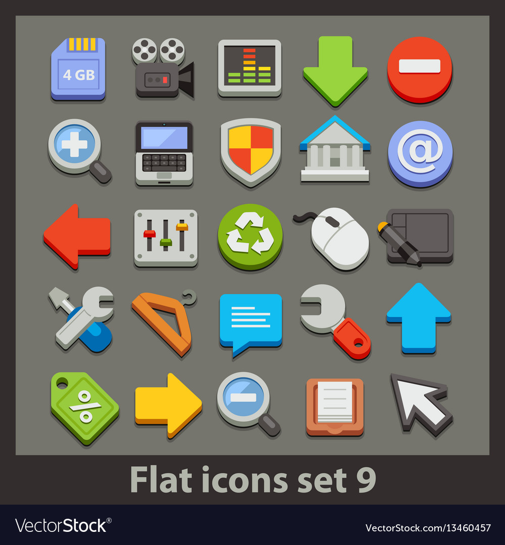 Flat icon-set 9