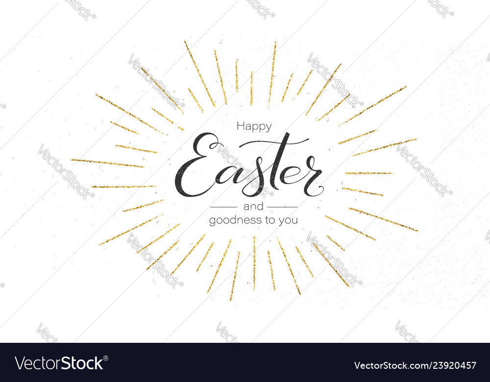 Happy easter festive greeting card design of