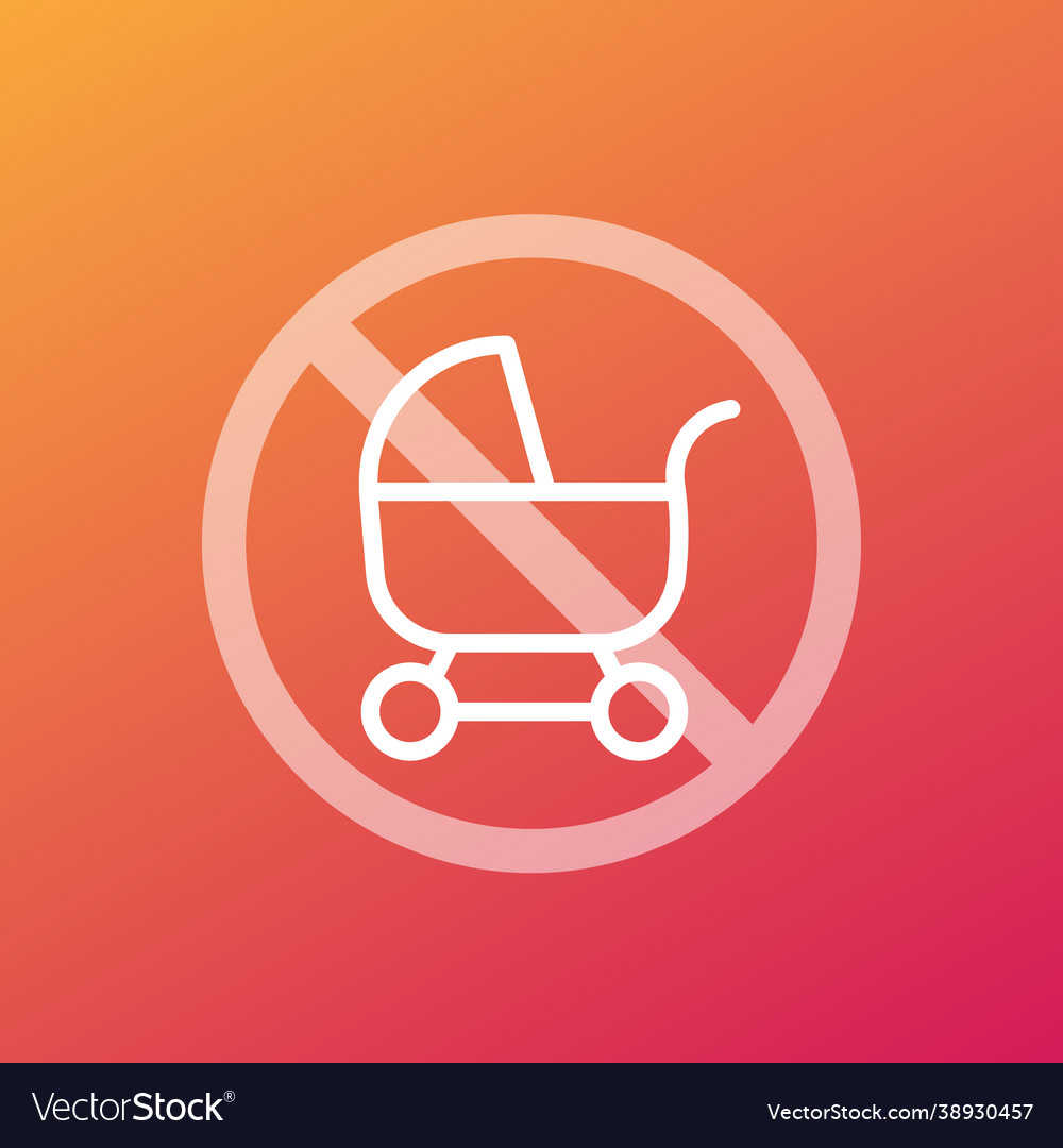 No baby carriage or pram icon