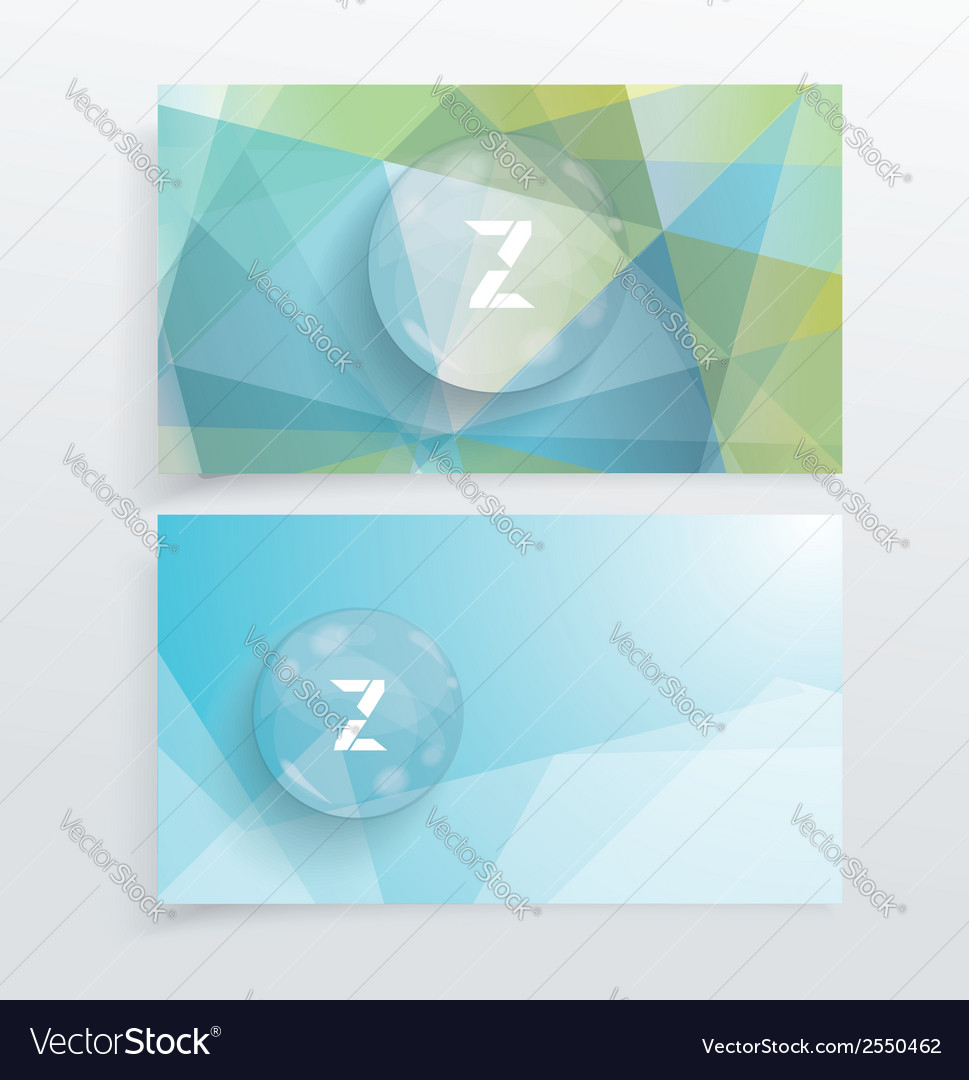 Abstract creative business cards