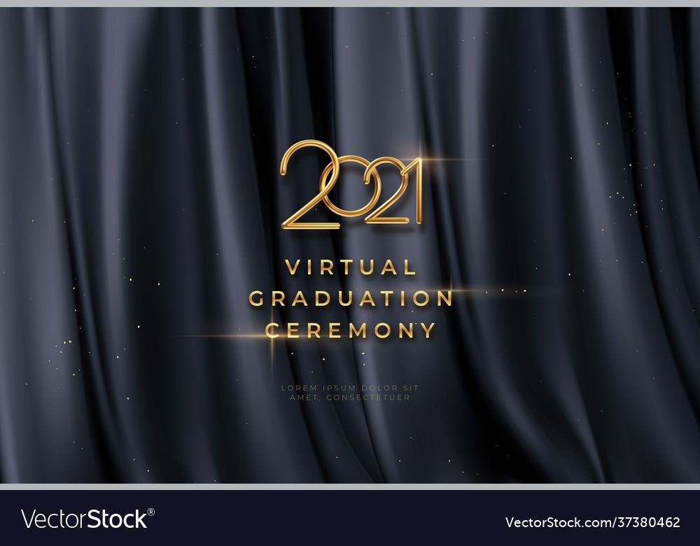 Congratulations golden award on black silk