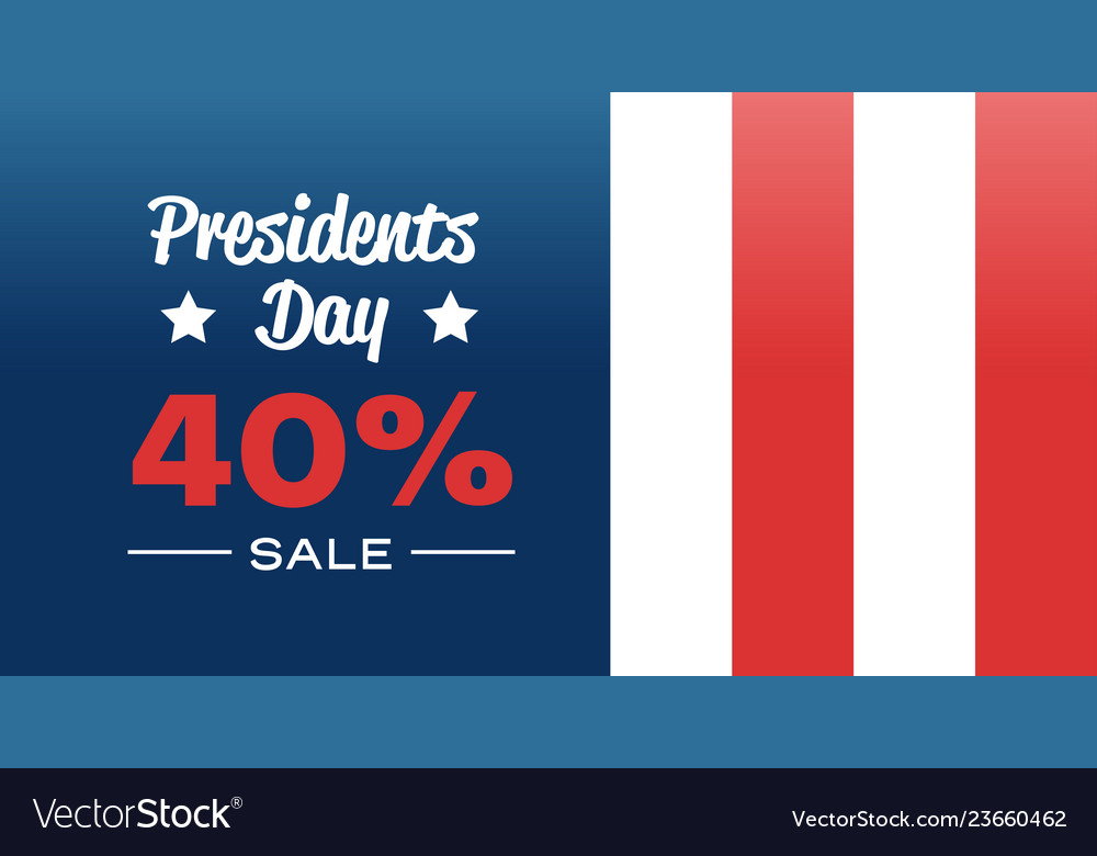 Happy presidents day holiday big sale concept