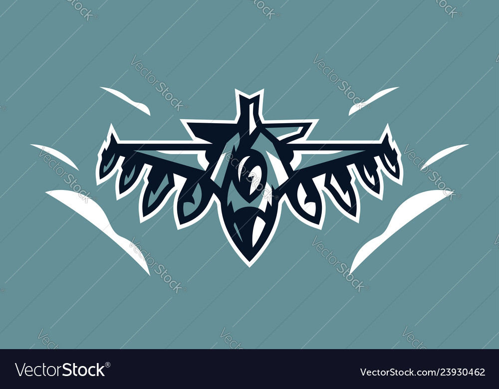 Logo a military fighter plane aircraft air