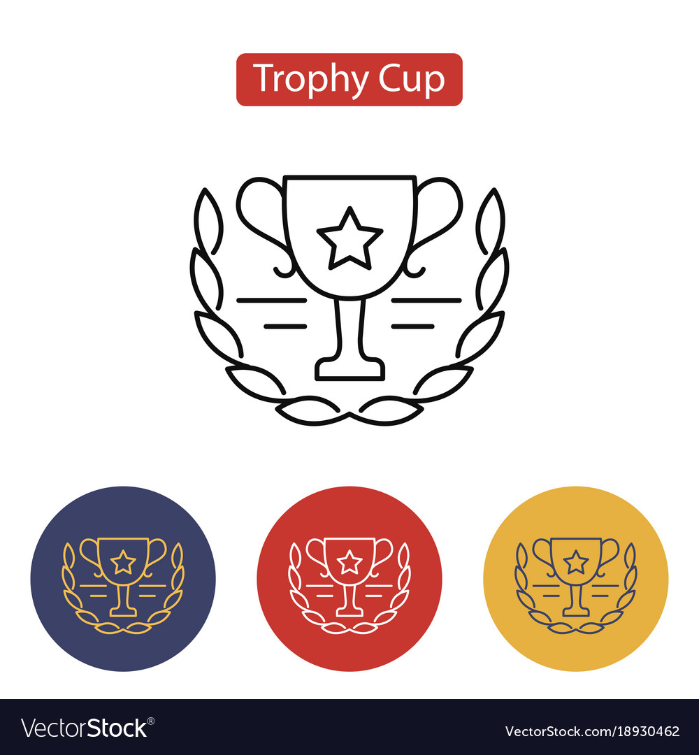 Trophy cup icon outline pictogram