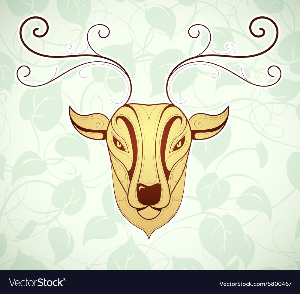 Artistic deer cartoon design
