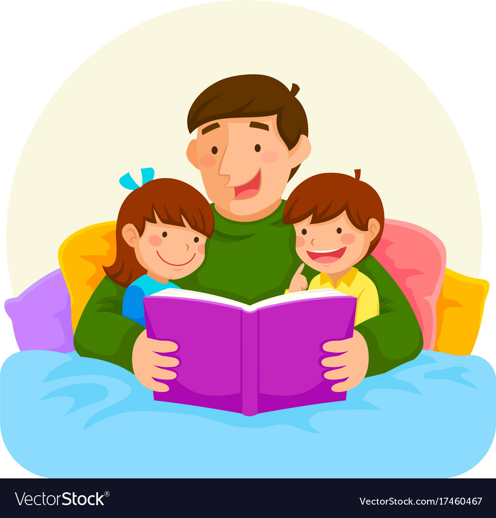 bedtime story with dad royalty free vector image bedtime clipart black and white bedtime clipart png