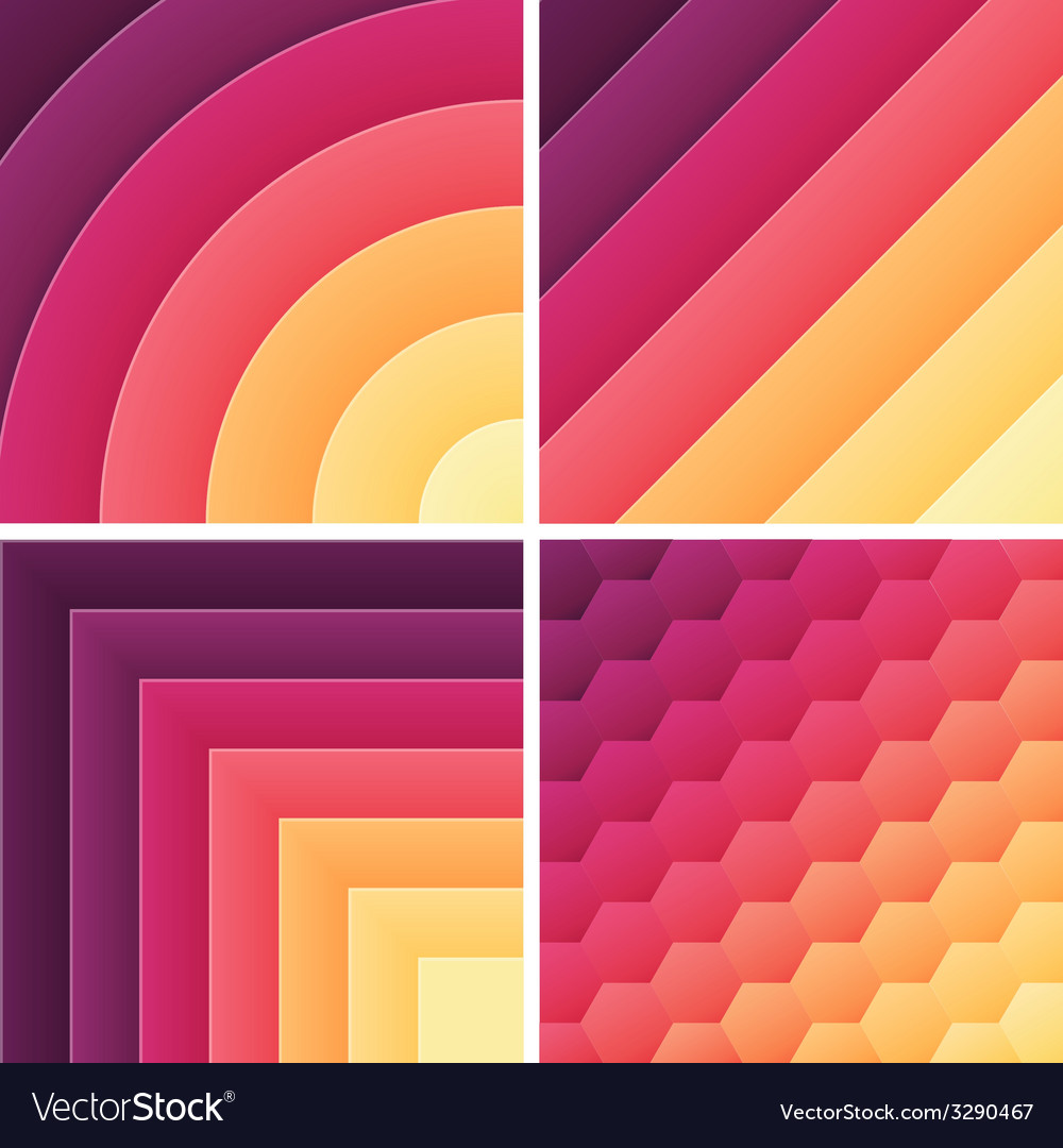gradient trendy color background pack royalty free vector