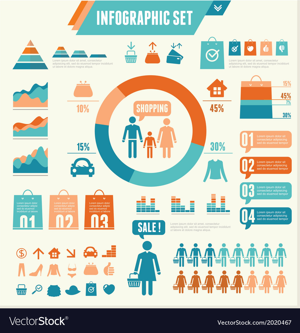 Infographics Elements Shopping