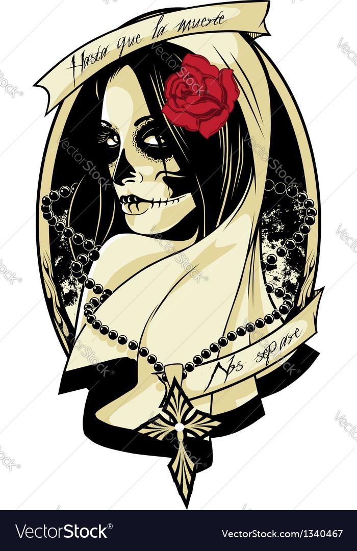 Lady death vector image