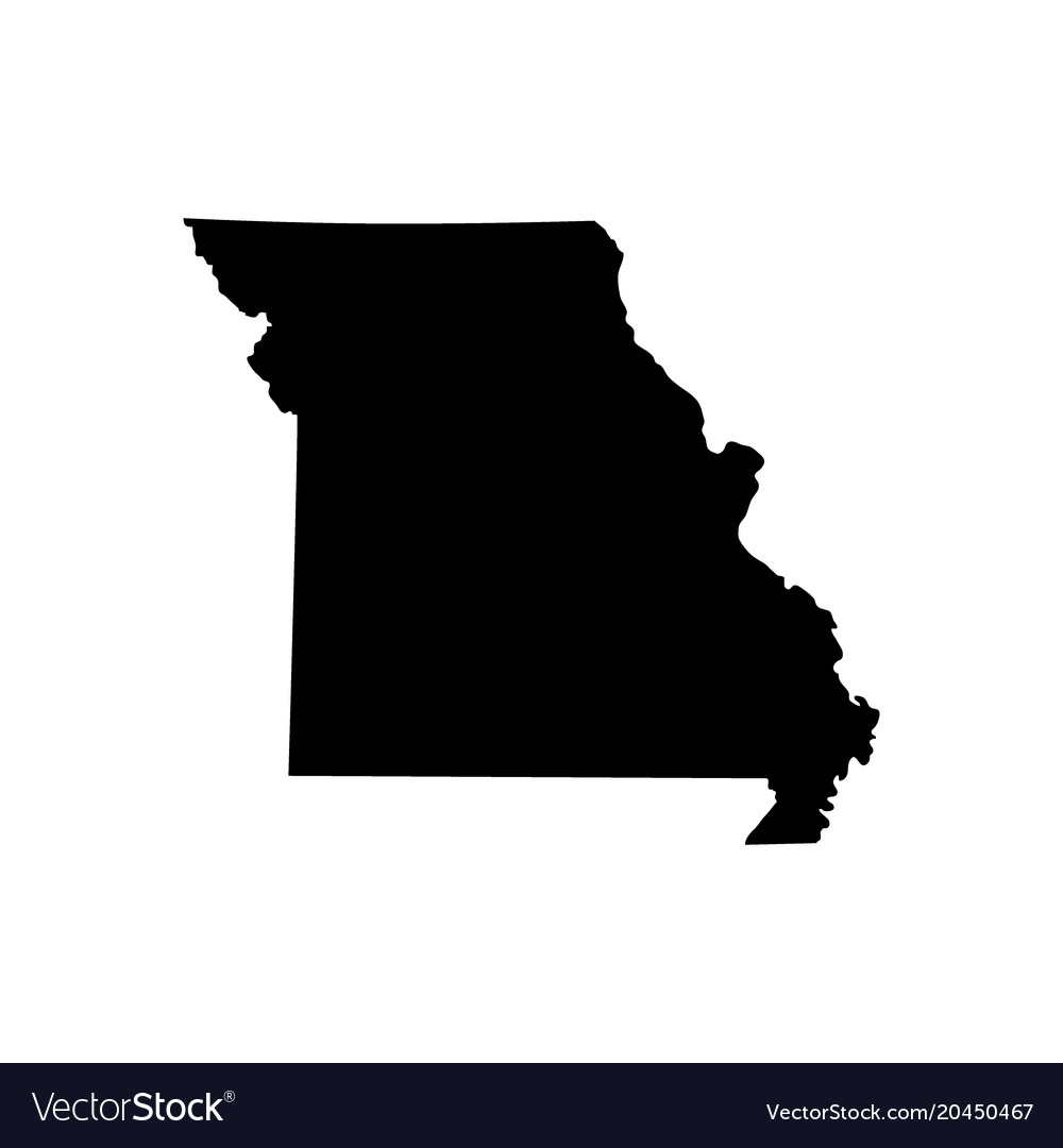 Map of the us state missouri vector image