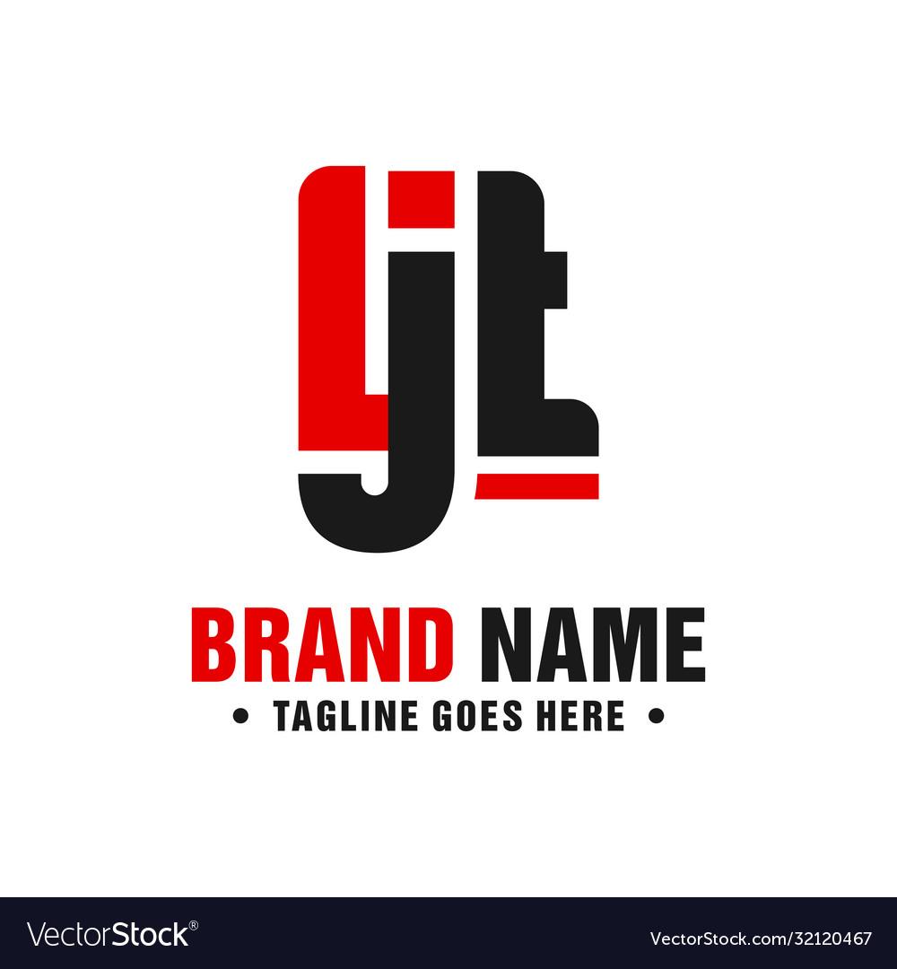 Modern logo design letter ljt