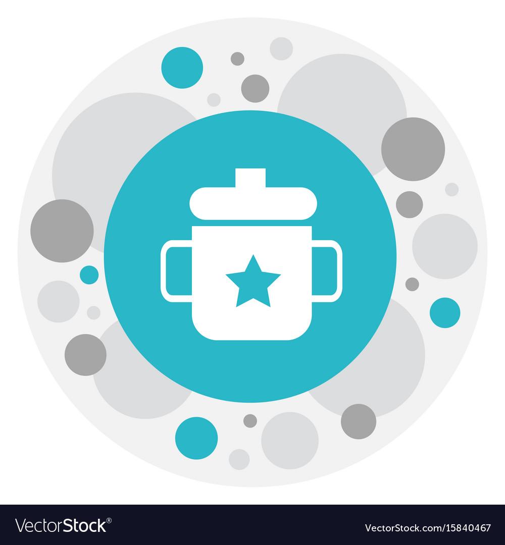 Of baby symbol on mug icon vector image
