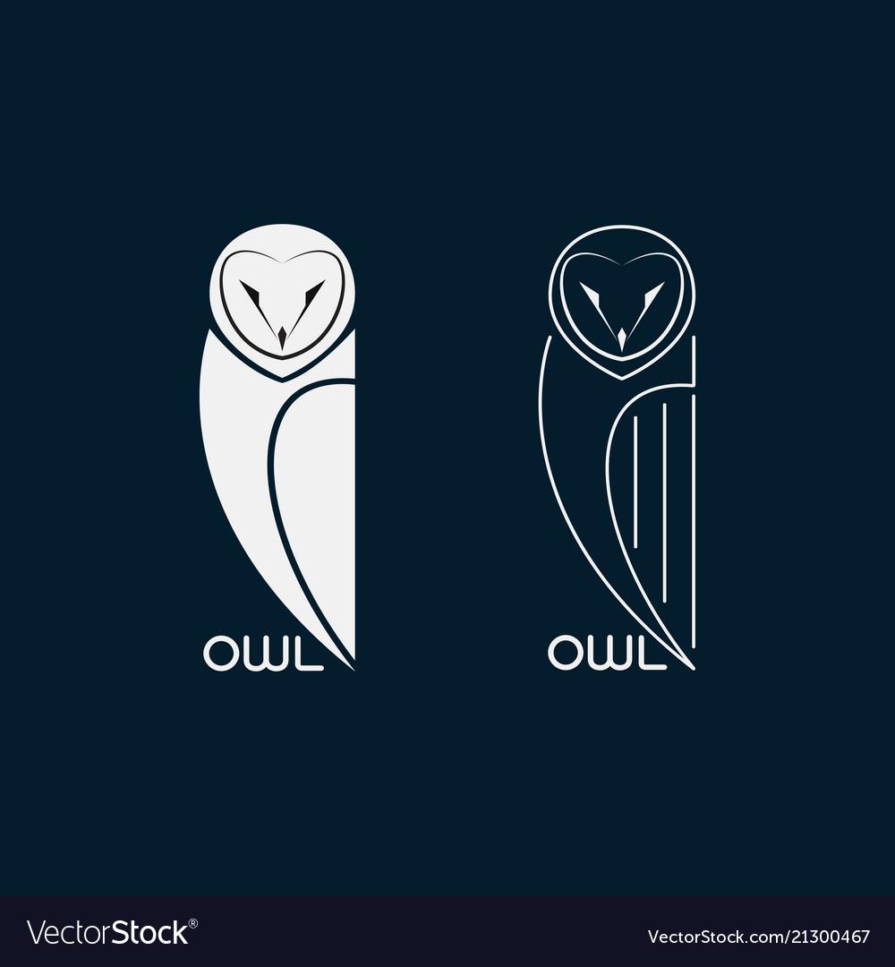 Owls design on blue background bird icon