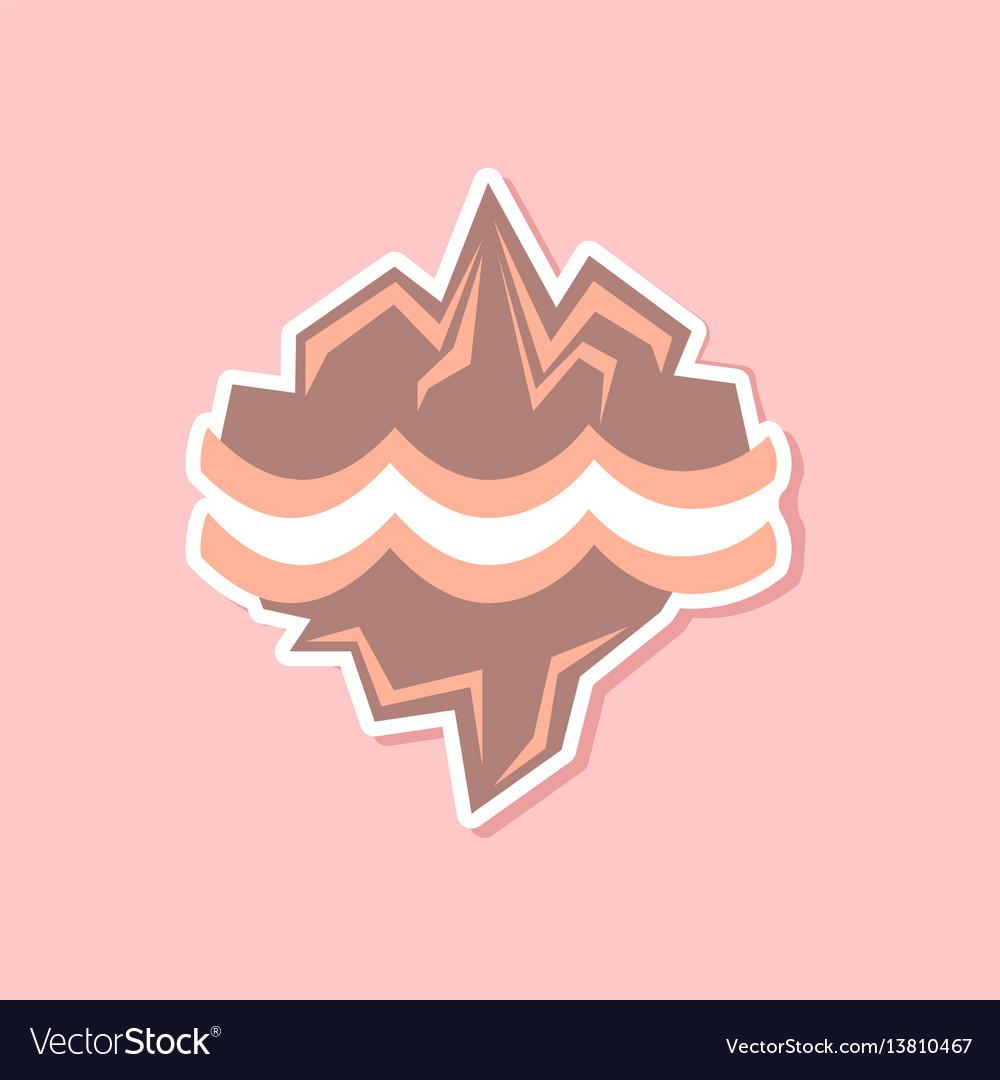 Paper sticker on stylish background of nature