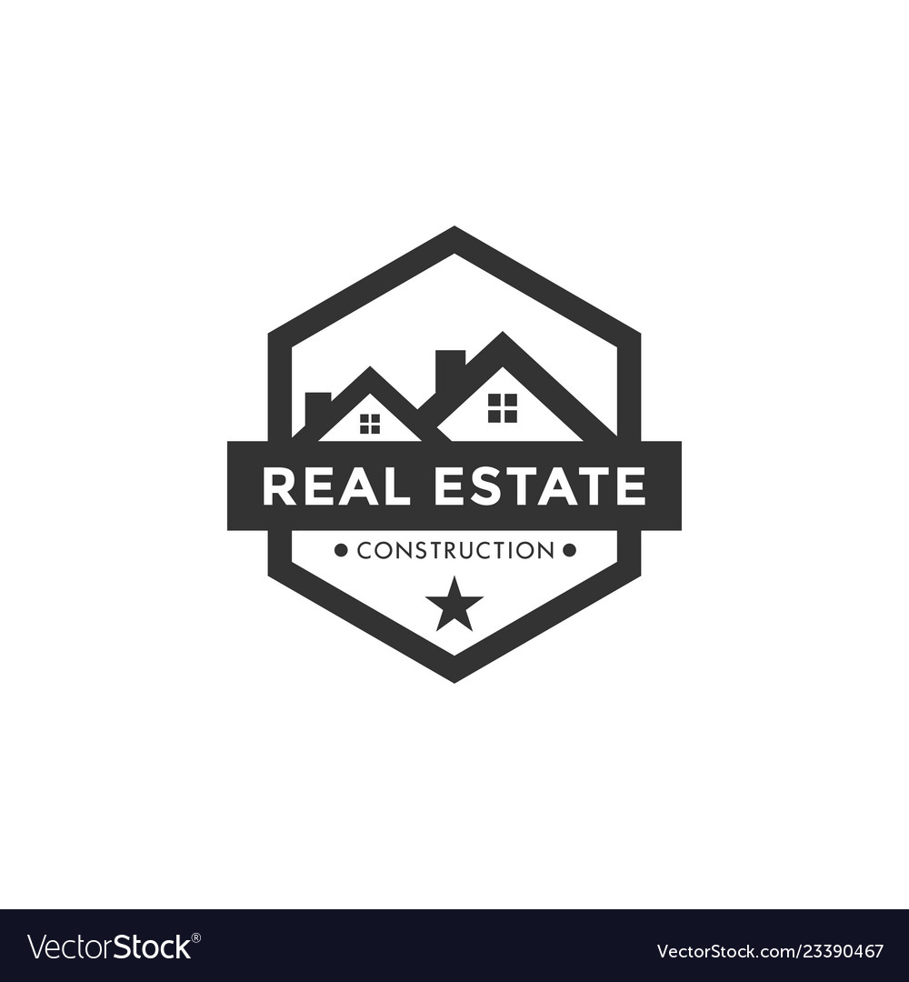 Real estate logo icon element design template