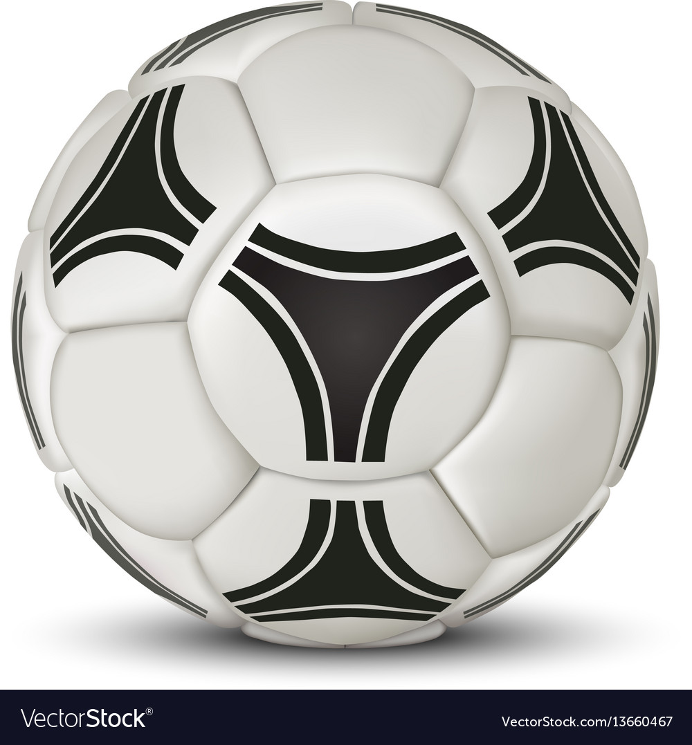 Realistic soccer ball isolated on white background