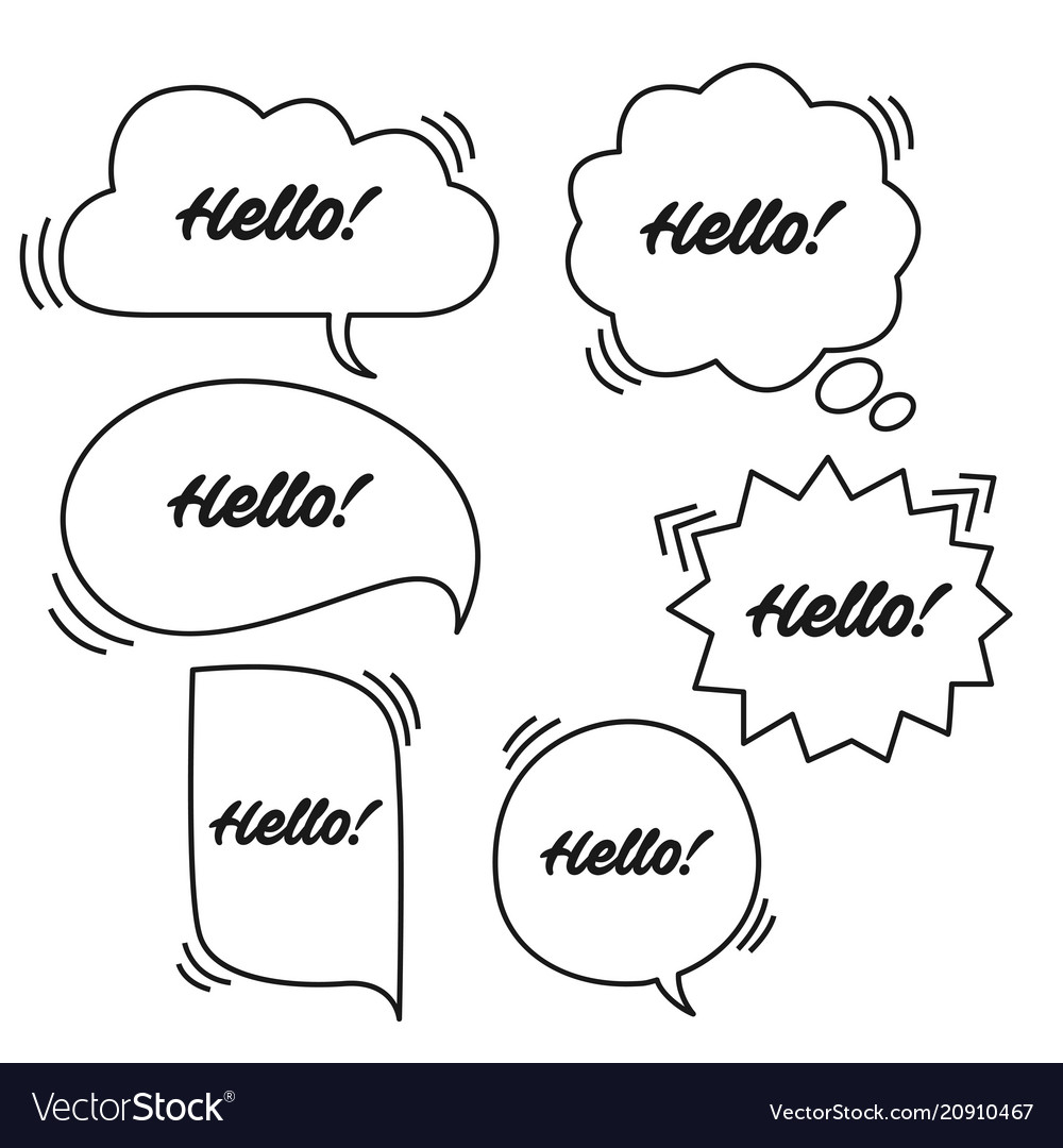 Trendy speech bubbles set in flat design with