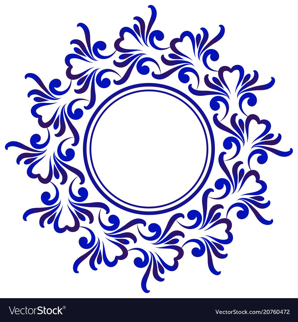 Blue decorative round